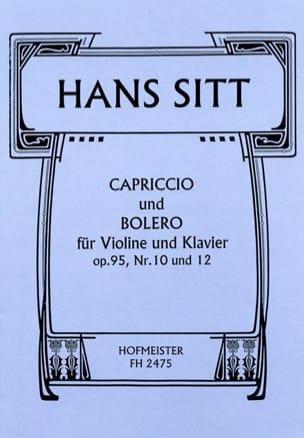 Capriccio und Bolero, op. 95 n°10 und 12 Hans Sitt laflutedepan