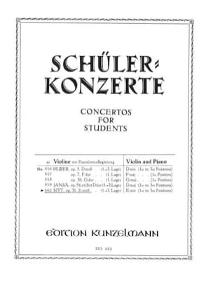 Concertino op. 31 E-moll Hans Sitt Partition Violon - laflutedepan