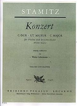 Johann Stamitz - Konzert C-Dur - Partition - di-arezzo.fr