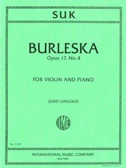 Burleska op. 17 n° 4 - Josef Suk - Partition - laflutedepan.com