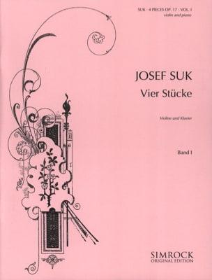 4 Pièces op. 17, Volume 1 Josef Suk Partition Violon - laflutedepan