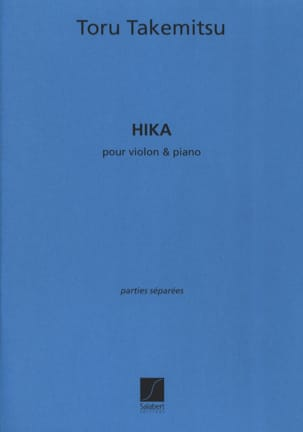 Hika TAKEMITSU Partition Violon - laflutedepan