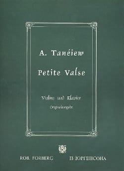 A. Taneiev - Petite valse - Partition - di-arezzo.fr