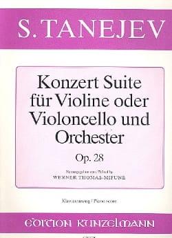 Konzert Suite op. 28 - Serge Taneiev - Partition - laflutedepan.com