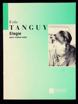 Eric Tanguy - Elégie - Partition - di-arezzo.fr