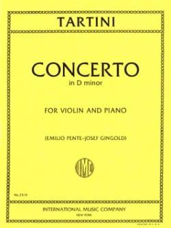 Giuseppe Tartini - Concerto in D minor - Partition - di-arezzo.fr