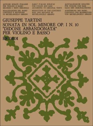 Giuseppe Tartini - Sonata Didone abbandonata op. 1 n° 10 in sol minore - Partition - di-arezzo.fr