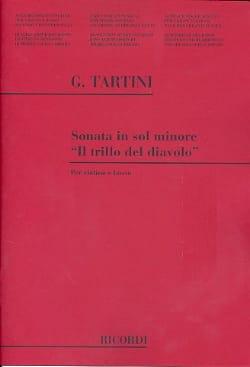 Giuseppe Tartini - Sonata Il trillo del diavolo in sol minore - Partition - di-arezzo.fr