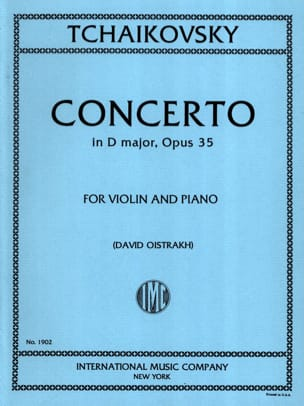 TCHAIKOVSKY - Violin Concerto D major op. 35 Oistrakh - Sheet Music - di-arezzo.co.uk