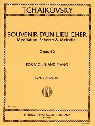 Piotr Illitch Tchaïkovski - Souvenir D'un Lieu Cher Op. 42 - Partition - di-arezzo.fr