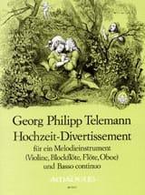 Hochzeit-Divertissement - TELEMANN - Partition - laflutedepan.com