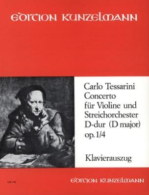 Concerto D-dur op. 1 n° 4 Carlo Tessarini Partition laflutedepan