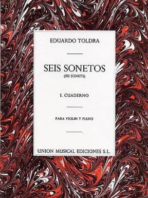 6 Sonetos - Volume 1 - Eduardo Toldra - Partition - laflutedepan.com