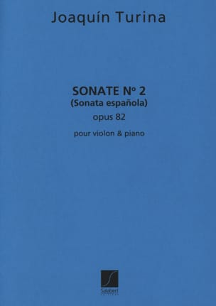 Sonate n° 2 op. 82 TURINA Partition Violon - laflutedepan