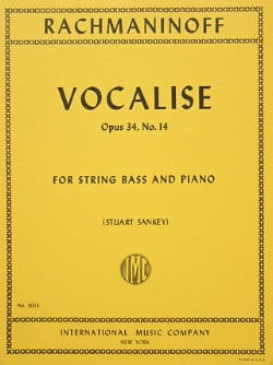 Vocalise op. 34 n° 14 - String bass RACHMANINOV Partition laflutedepan