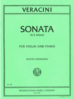 Sonate E minor op. 2 n° 8 Francesco Maria Veracini laflutedepan