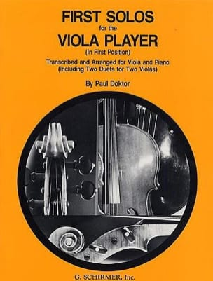 Paul Doktor - First Solos for the Viola player - Sheet Music - di-arezzo.co.uk