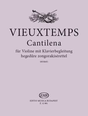 Henri Vieuxtemps - Cantilena op. 48 n ° 24 - Sheet Music - di-arezzo.co.uk