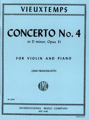 Henri Vieuxtemps - Violin Concerto No. 4 D minor op. 31 - Sheet Music - di-arezzo.co.uk