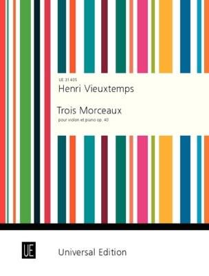 3 Morceaux op. 40 - Henri Vieuxtemps - Partition - laflutedepan.com