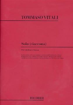 Tommaso Antonio Vitali - ソロチャコナ - 楽譜 - di-arezzo.jp