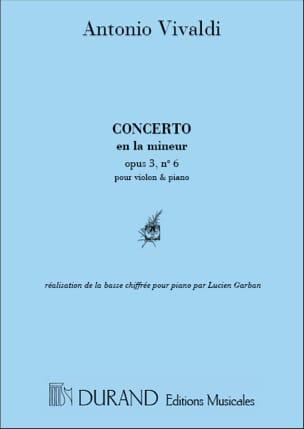 Concerto en la mineur, op. 3 n° 6 - VIVALDI - laflutedepan.com