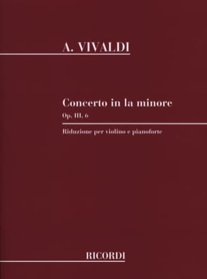 VIVALDI - Violin Concerto a minor op. 3 n ° 6 - Sheet Music - di-arezzo.co.uk