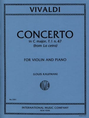 Concerto in C major op. 9 n° 1 - F. 1 n° 47 - laflutedepan.com