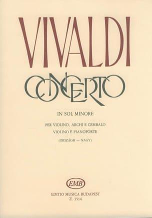 VIVALDI - Concerto in sol minore op. 9 n° 3 RV 334 - Partition - di-arezzo.fr