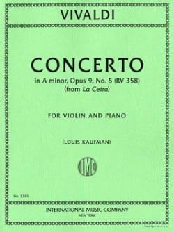 Antonio Vivaldi - Concerto in A minor, op. 9 n° 5 - RV 358 - Partition - di-arezzo.fr