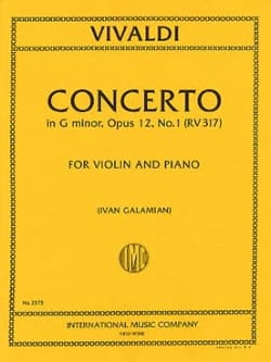 Antonio Vivaldi - Concerto G minor op. 12 No. 1 (RV 317) - Sheet Music - di-arezzo.co.uk