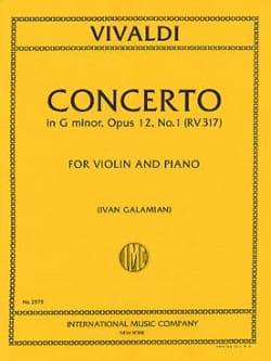 Concerto sol mineur op. 12 n° 1 RV 317 VIVALDI Partition laflutedepan