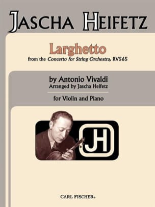 Larghetto - VIVALDI - Partition - Violon - laflutedepan.com