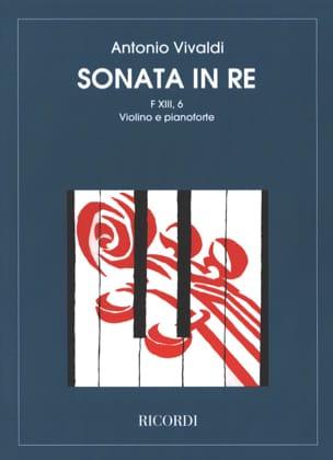 Antonio Vivaldi - Sonate en Ré Maj. - F. 13 n° 6 - Violon/Piano (Respighi) - Partition - di-arezzo.fr