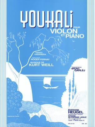 Kurt Weill - Youkali - Partition - di-arezzo.fr
