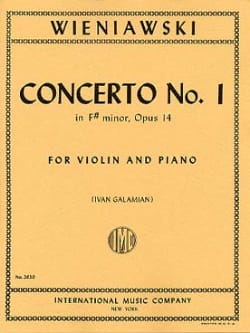 WIENIAWSKI - Concerto No. 1 in F sharp minor op. 14 - Violin - Sheet Music - di-arezzo.co.uk