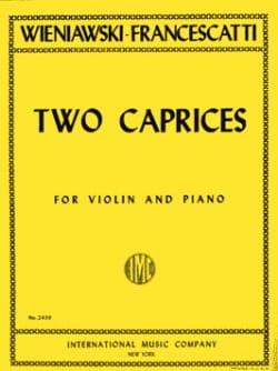 Wieniawski Henryk / Francescatti Zino - 2 Caprices - Partition - di-arezzo.fr