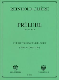 Reinhold Gliere - Prelude op. 32 n ° 1 - Sheet Music - di-arezzo.co.uk
