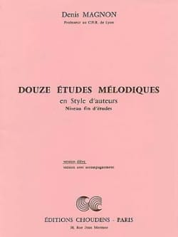 Denis Magnon - 12 Melodic studies - End of study - Student - Sheet Music - di-arezzo.co.uk