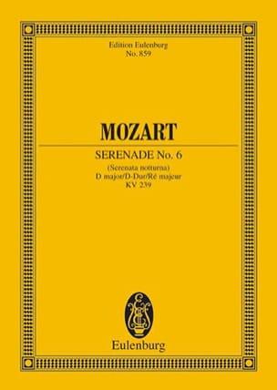 Wolfgang Amadeus Mozart - Serenade Nr. 6 D-Dur KV 239 – Partitur - Partition - di-arezzo.fr