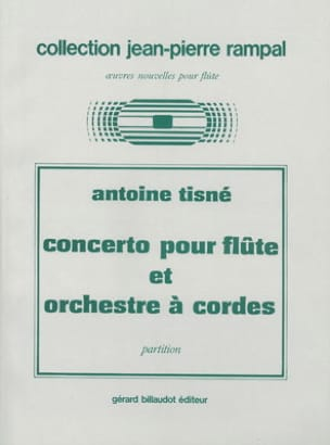 Antoine Tisné - Concerto - Flûte piano - Partition - di-arezzo.fr