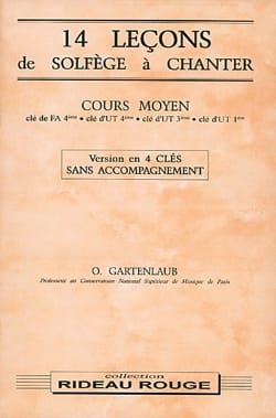 Odette Gartenlaub - 14 Lessons - Medium - 4 Keys without Accompaniment - Sheet Music - di-arezzo.co.uk