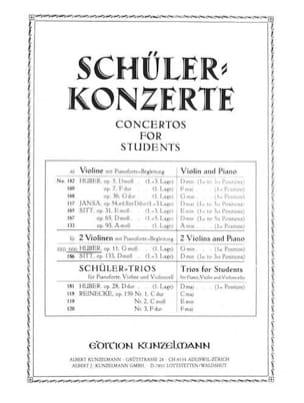Adolf Huber - Concertino op. 11 g-moll –2 Violine Klavier - Partition - di-arezzo.fr