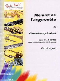 Claude-Henry Joubert - Menuet de l'argyronète - Partition - di-arezzo.fr