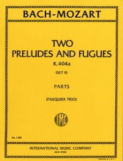 Bach Johann Sebastian / Mozart Wolfgang Amadeus - 2 Préludes et Fugues K. 404 A - Partition - di-arezzo.fr