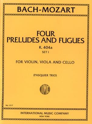4 Préludes et Fugues KV 404 a, Set 1 -Trio - Parts laflutedepan