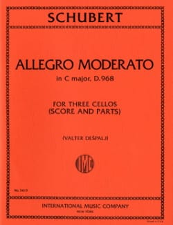 Franz Schubert - Allegro Moderato in C major D.968 – 3 Cellos - Partition - di-arezzo.fr