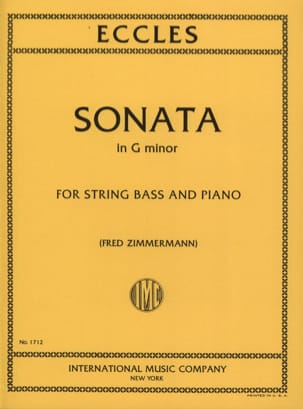 Sonata In G Minor - Contrebasse Henry Eccles Partition laflutedepan