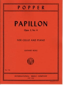 Papillon op. 3 n° 4 - David Popper - Partition - laflutedepan.com