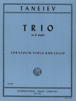 Trio in D major -Violin viola cello - Parts laflutedepan